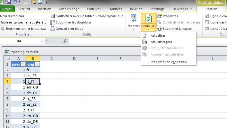 comment faire des requetes dans une base mysql avec excel webanalytix. Black Bedroom Furniture Sets. Home Design Ideas