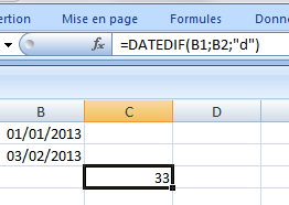 Excel-date-dif