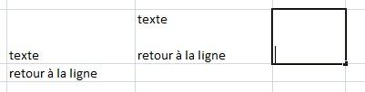 Excel-retour-ligne