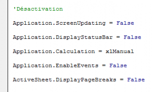 VBA-optimisation