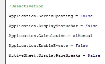 écriture code barre excel